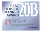 Top Bedside Manner Award 2013